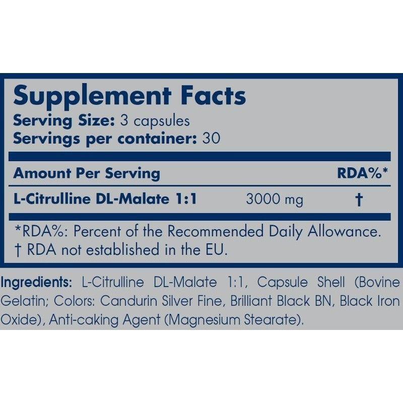 Citrulline malate 90 caps.