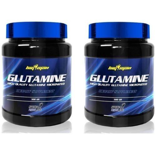 2 BOTES GLUTAMINA 500 Gr (1KG)