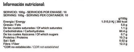 HARINA DE AVENA INSTANTANEA 1Kg BIGMAN NUTRITION