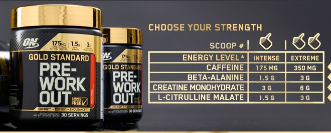 PRE-WORKOUT GOLD STANDARD AMINOGRAMA ON