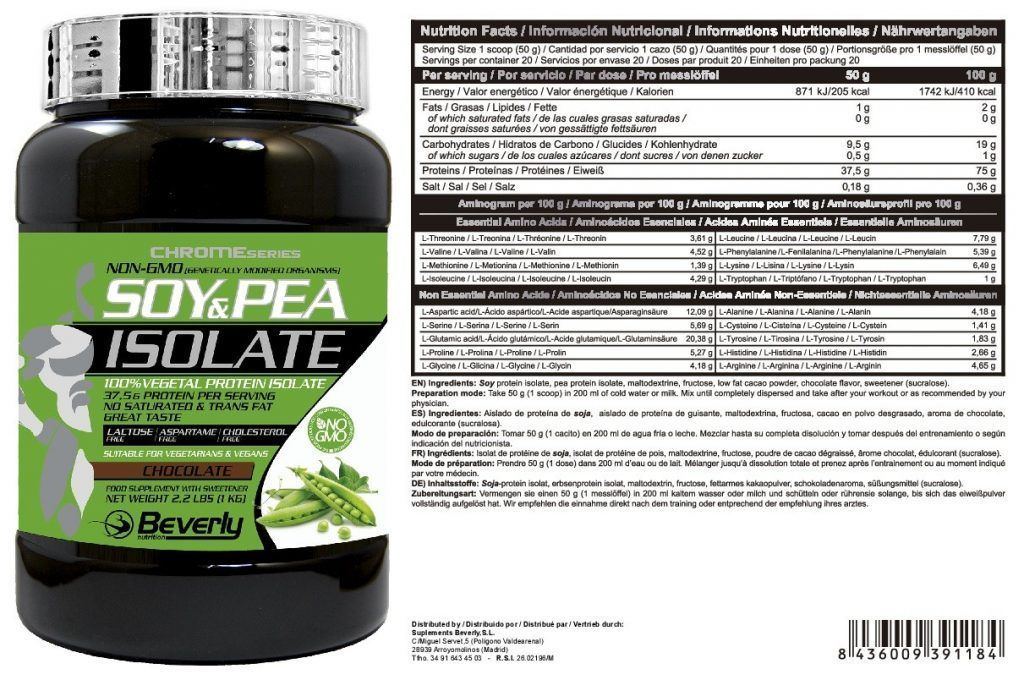 SOY & PEA ISOLATE 1 kg.