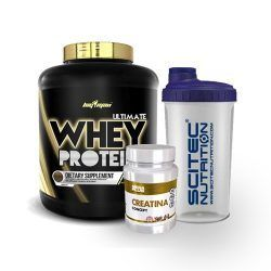 PACK ULTIMATE WHEY PROTEIN 2 kg. + CREATINA 500 Gr. + Shaker de REGALO